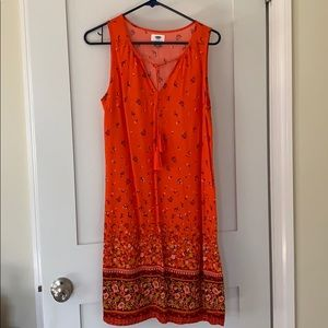 Vividly colored sun dress